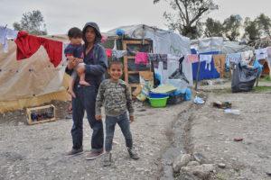 Nens refugiats al camp de Moria
